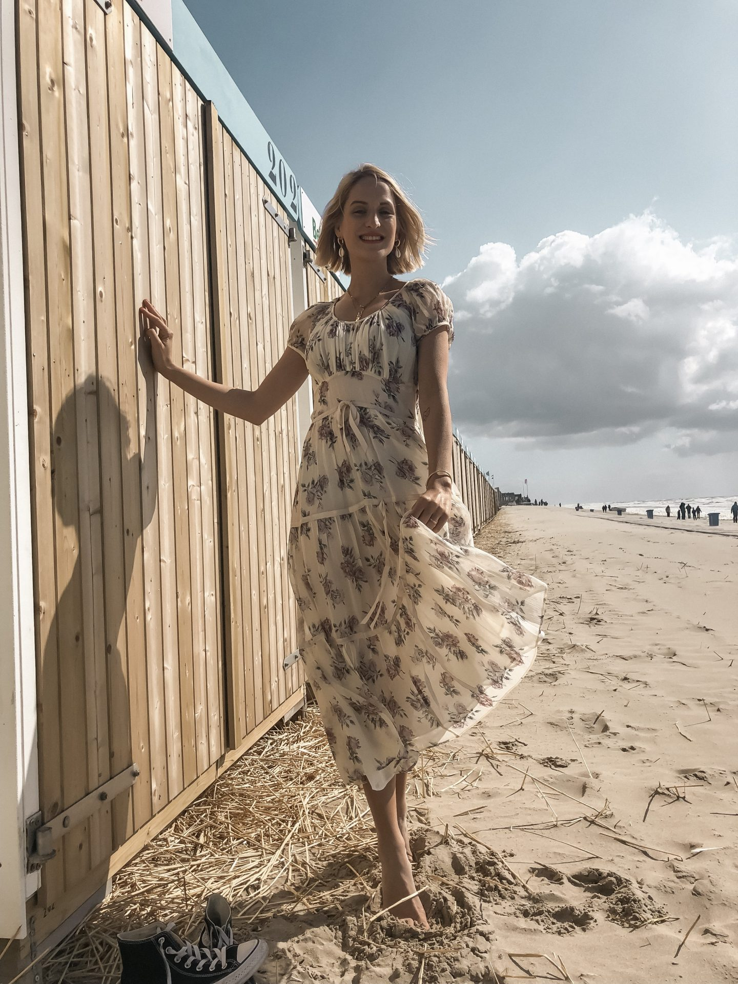Sommer kleid minidress flowers beachcafe